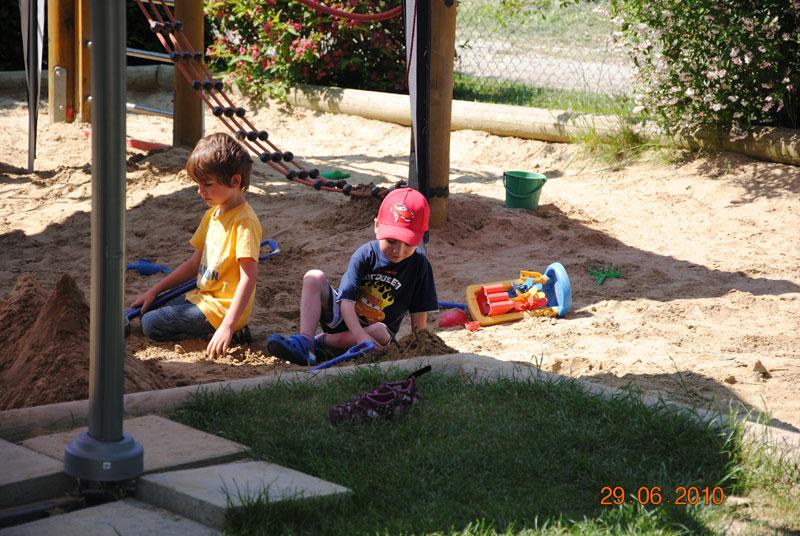 Garten Sandkasten